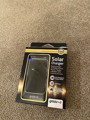 Groov-e GVCH360 3600mAh Lithium-polymer Portable Solar Phone Tablet Charger • 20£