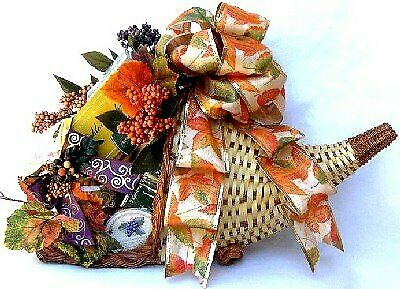 Horn Of Plenty - Fall Gift Baskets For Thanksgiving With Traditional Colors A... • 81.58£