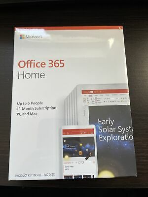 AU72.12 • Buy Microsoft Office 365 Home 1 Year For 6 Users