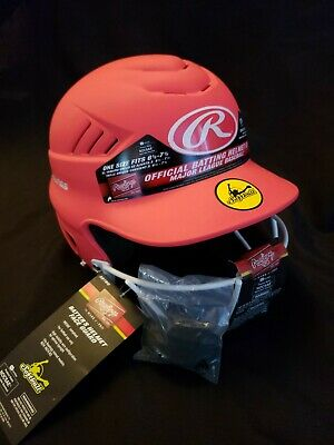$12.95 • Buy New Rawlings Softball Batting Helmet Size Fits 6 1/2-7 1/2 With Guard Pink...