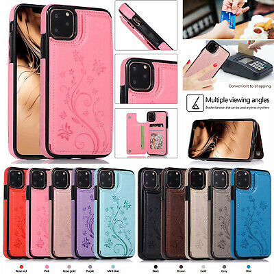 AU10.93 • Buy Premium Hybrid Gel Cover Case With Card Holder For Iphone 11 11 Pro Max Samsung
