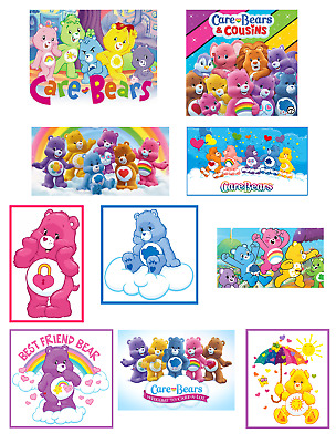 £2.35 • Buy 10 Care Bears Through The Years Glossy Stickers, Party Favors