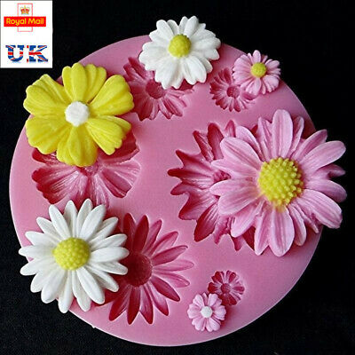 3D Daisy Flowers Shape Fondant Mold Silicone Cake Chocolate Decorating DIY Mould • 3.99£