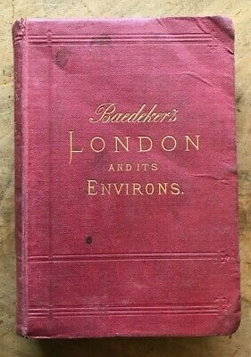 £34.95 • Buy Baedeker's London And Its Environs 1881 Third Edition