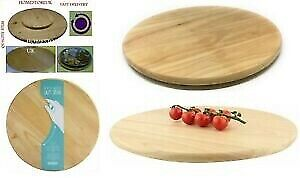 £11.99 • Buy Lazy Susan Round Wooden Revolving Rotating Turntable Tray Pizza Cake Serving