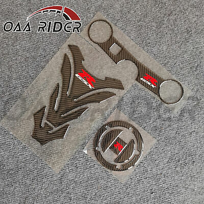 $28.99 • Buy Carbon Fiber Tank Pad Cap Kit Sticker Decal For Suzuki GSXR600 GSXR750 2004-2005