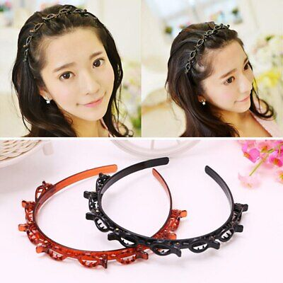 £2.55 • Buy Twist Plait Headband Double Bangs Hairstyle Hairpin Hollow Woven Hair Clips
