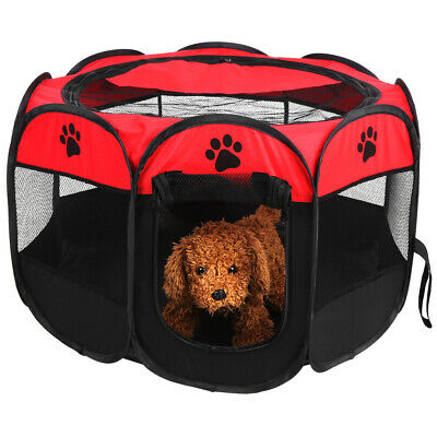 £19.25 • Buy Large Portable Foldable Fabric Dog Crate Cat Cage Pet Travel Puppy Play Pen Tent