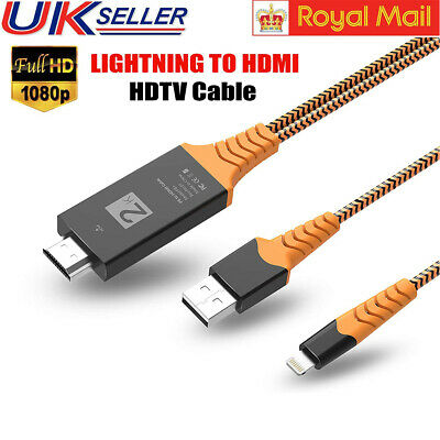 £7.89 • Buy Lightnin-g To HDMI HDTV TV Adapter Game Cable Fast Charging Lead For IPhone X XS