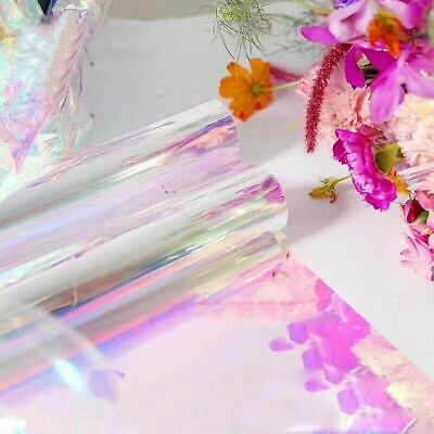 £19.93 • Buy Iridescent Flower Bouquet Wrapping Paper 20 Inchx10 Yard Cellophane Rainbow Film
