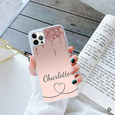 PERSONALISED Marble Gel Phone Case Cover For Apple Samsung Huawei 164-1 • 5.90£