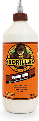 Gorilla Wood Glue Water Resistant PVA Strong Fast Bond Non Foaming Adhesive 1L • 11.17£