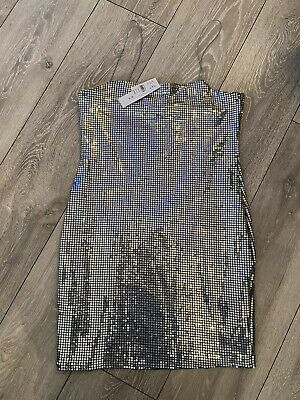 £10.50 • Buy Topshop Sequin Silver Cami Dress Size 12