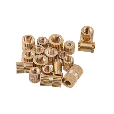$2.19 • Buy For Plastic M1.4 M1.6 M2 M3-M8 Brass Inserts Embedded Knurl Threaded Nut Part