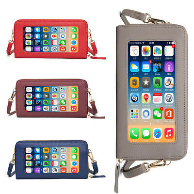 AU16.61 • Buy Small Women Mobile Phone Pouch Wallet Shoulder Bag Crossbody Purse Touch Screen