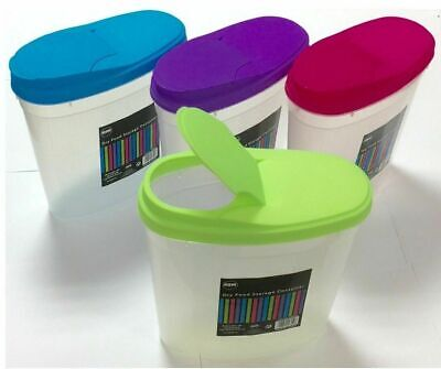 £8.99 • Buy 2 X 5L Cereal Dispenser Store Storage Box Kitchen Lid Foods Rice Pasta Container