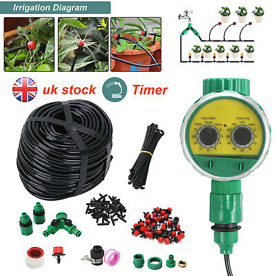 £12.59 • Buy 160x Automatic Drip Irrigation System Kit Plant +Timer Self Watering Garden Hose