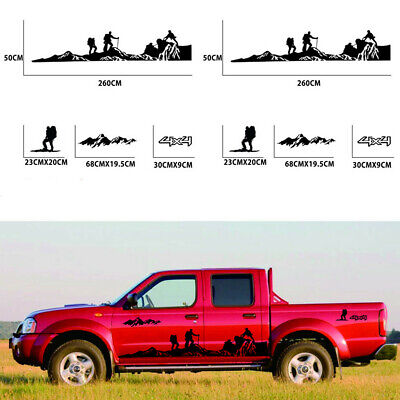 $34.10 • Buy 2pcs Self-adhesive Stickers Mountains Climbing Graphics Fit For Car Side Body