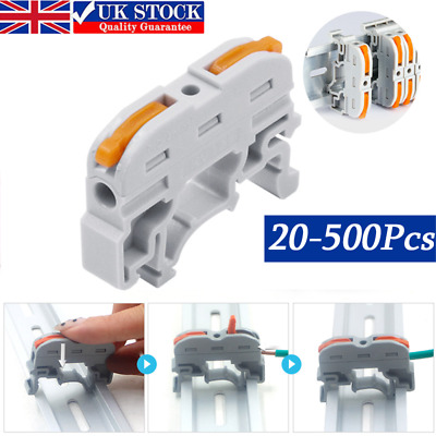 £10.24 • Buy 20-500x Wiring Terminal Din Rail Wire Connector Push-in Wago Conductor Universal