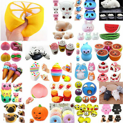AU13.61 • Buy Squishy Squeeze Realistic Slow Rising Charms Collection Stress Relief Fun Toy