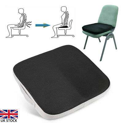£15.62 • Buy Memory Foam Wedge Car Seat Chair Lumbar Support Cushion Back Pain Height Booster