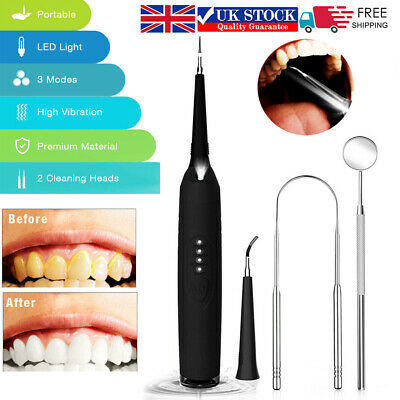 £13.39 • Buy Ultrasonic LED Electric Scaler Tooth Polishing Cleaner Oral Teeth Cleaning Kit