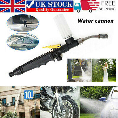 £9.85 • Buy High Pressure Power Washer Spray Water Gun With Nozzle Hose Tips Foam Bottle New
