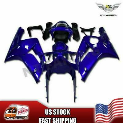 $469.99 • Buy FT Injection Molding Fairing Fit For Kawasaki 2003 2004 ZX6R 636 Blue Set E010