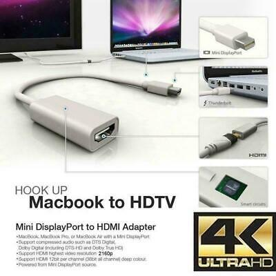 Mini Display Port Cable DP Thunderbolt To HDMI Adapter For Macbook Pro Air IMac • 2.99£