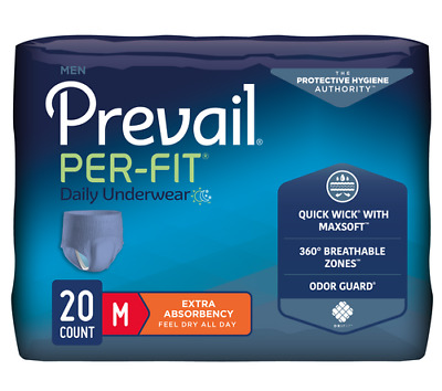 $11.99 • Buy Prevail Per-Fit Pull Up Underwear For Men, Heavy Absorbency, Breathable, Disc...