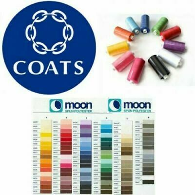£8.79 • Buy Coats Moon Sewing Machine Polyester Thread Cotton 1000 Yards X 10 Cops
