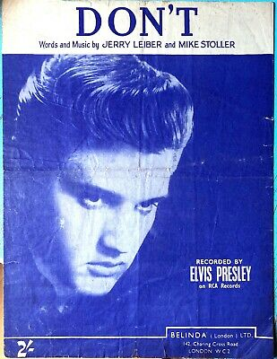£6.99 • Buy Don't By Elvis Presley Rare Original Out Of Print Sheet Music 1958