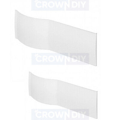 P Shaped Shower Bath Front Panel ONLY 520mm X 1700mm Or 1500mm White Acrylic • 89.99£