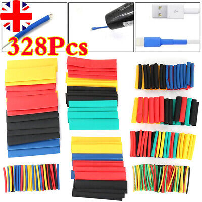 328 Pc Heat Shrink Tubing Electric Insulation Tube Heat Shrink Wrap Cable Sleeve • 3.75£