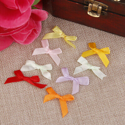 £2.75 • Buy 100x Mix Satin Ribbon Bows For Craft Cardmaking Embellishment Sewing Applique