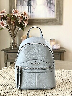 $ CDN174.17 • Buy Kate Spade Karina Mini Convertible Backpack Tote Leather Bag Frosted Blue $329