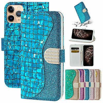 AU11.16 • Buy For IPhone 12 Pro Max 11 XS XR 8+ 7 6s Bling Magnetic Leather Wallet Case Cover