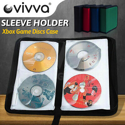 AU12.59 • Buy 80 40 DVD CD DISC Holder Album Storage Case Folder Wallet Carry Bag Organizer