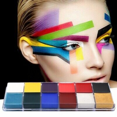 £4.50 • Buy Face Paint Tattoo Body Paint Airbrush Oil Painting Halloween Party Makeup LC