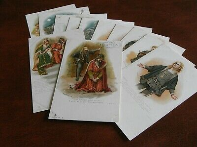 £64 • Buy Original Set Of Twelve Early Tuck Glamour Postcards - Harold Copping,shakespeare