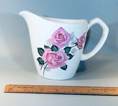 £11.95 • Buy Great Condition Vintage Alfred Meakin Glo-White Milk Jug Floral Pattern ROSES