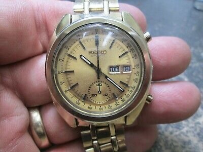 $ CDN439.37 • Buy Vintage SEIKO Chronograph Running DAY/DATE MENS AUTOMATIC WRIST WATCH