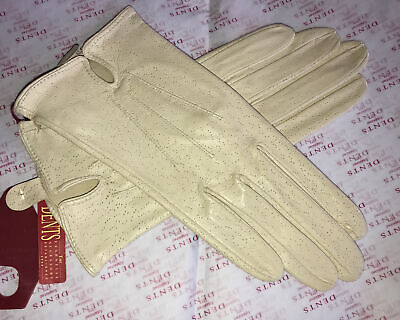 £15.99 • Buy Dents Ladies Cream Fine Leather Gloves Unlined Size 6.5 Small Bnwt
