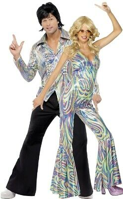 AU120.37 • Buy Couples Ladies AND Mens 70s Disco Party Fever Fancy Dress Costumes Outfits