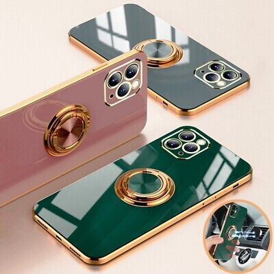 AU10.99 • Buy For IPhone 12 11 Pro Max XS XR X 8 7 Magnetic Plating TPU Ring Holder Case Cover