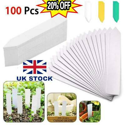 """5/"""" Plastic Plant Labels Seed Tray Marker Garden Greenhouse Label QUALITY UK MADE"""