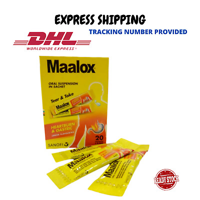 $38.80 • Buy 20'S MAALOX PLUS SIMETHICONE SUSPENSION For Relief Gastric, Stomach Wind DHL