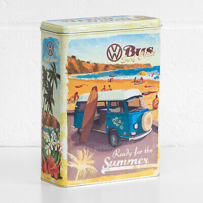 £14.99 • Buy Retro Large 4L VW Biscuit Storage Tin Box Kitchen Cereal Container Beetle Bulli