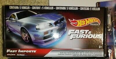 AU35 • Buy Hot Wheels Fast And Furious Premium 5 Pack FREE POSTAGE
