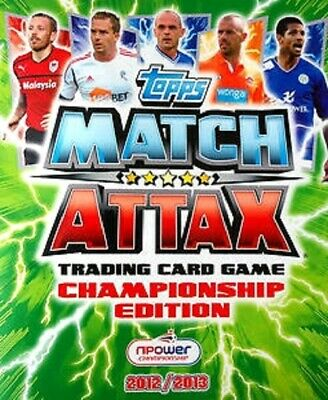 £1.75 • Buy Match Attax  Championship 2012/2013  12/13  Star Player / Manager / Ref Cards